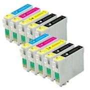 Multipack da 10 cartucce Epson T1281-T1284 compatibili per stampanti Stylus S22 SX125 SX420w SX425w Epson Stylus OFFICE BX305f BX305fw
