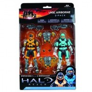 McFarlane Toys Halo Reach Series 2 - UNSC Airborne 2 Pack Gold/Steel and Cyan White