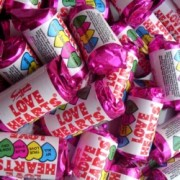 Weigh out of Swizzels Mini Love Hearts Rolls Wedding Sweets