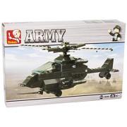 Sluban Apache Helicopter 158 Pieces Building Blocks Lego Compatible
