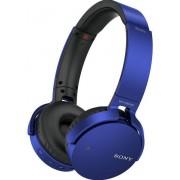 Casti Stereo Sony MDRXB650BT, Bluetooth, Wi-Fi, Extra-bass (Albastru)