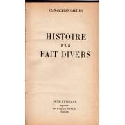 Histoire D'un Fait Divers