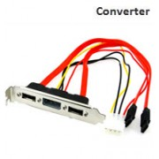 2 Port SATA Adapter with PCI Power Bracket Converter Extension