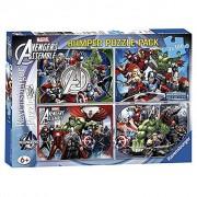 Ravensburger set 4 puzzle - the avengers - 100 pz