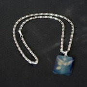 Necklace Worked Stainless Steel Pendant with Engraving Ontario