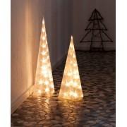 LED Leucht-Pyramide, warmweiß, 45 cm
