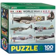 Eurographics WWII grandi combattenti Mini Puzzle (100 Pezzi)