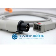 CABO TRONCO DE ECG 3 VIAS COMPATÍVEL GE / CRITIKON® Dianmap Pro 1000 MPS (NQA-E143) / Registro Anvisa 80787710012 - NQA-E143