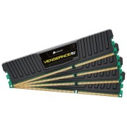 Corsair CML16GX3M4A1600C9 Vengeance Low Profile Memoria per Desktop a Elevate Prestazioni da 16 GB (4x4 GB), DDR3, 1600 MHz, CL9, con Supporto XMP, Nero