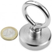 Magnet neodim oala cu inel, diametru 40 mm, putere 55 kg