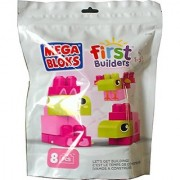 Mega Bloks First Builders 8 Piece Pink and Green Set