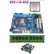 Intel Core I5 650 3.2 GHz + Intel H55 Chipset Motherboard + 4 GB DDR3 RAM