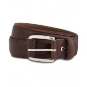 GANT Plain Leather 3,5 cm Belt Dark Brown