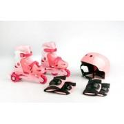 Kolieskové korčule TRISKATE SET - ružový + Detské plavecké okuliare ZADARMO !