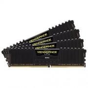 Corsair CMK64GX4M4A2666C16 Vengeance LPX Memoria per Desktop a Elevate Prestazioni da 64 GB (4x16 GB), DDR4, 2666 MHz, C16, con Supporto XMP 2.0, Nero