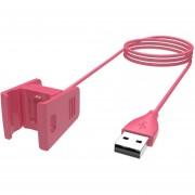 2pcs 1M/55cm USB Cable Cargador para Fitbit Charge 2 Reemplazo -Rojo