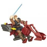 Hasbro - Hero Mashers - Star Wars - Jedi Speeder & Anakin Skywalker - Figura Personalizable 15 cm + Vehículo