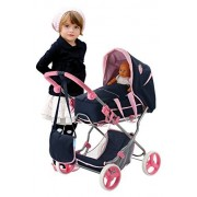 Hauck Classic Navy Doll Julia Pram Playset by Grand Touring - Toys