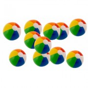 Kangaroo Beach Balls: 12'' Rainbow (12-pack)