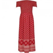 River Island Girls Red tile shirRed bardot maxi dress