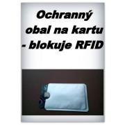 Ochranný obal na bezkontaktní kartu - blokuje RFID - 2 ks - stříbrné