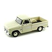 "Motormax GOTZMM73355CR 1:24 Scale Cream White ""1966 Chevrolet C10 Pick Up Fleet Side Truck"" Die Cast Model Car"