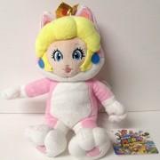 "Super Mario 3D World 8"" Princess Peach Neko Cat Plush Doll by Nintendo"