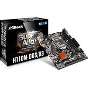 Asrock H110M-DGS/D3 S1151 mATX Intel H110 DDR3 Scheda madre