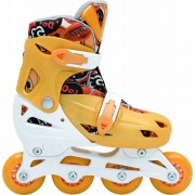 Patins In-Line Roller Kids Ajustável Amarelo – Tamanho M (32 a 35) – Bel Sports 367800