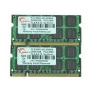 G.Skill SA Series - DDR2 - 1 Go - SO DIMM 200 broches - 667 MHz / PC2-5300 - CL4 - 1.8 V - mémoire sans tampon - non ECC