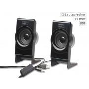 Stereo-Lautsprecher MSX-100 mit USB-Stromversorgung, 15 Watt