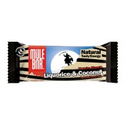 Mule Bar Liquorice Allsports Sportvoeding Liquorice & Coconut beige/zwart Energierepen