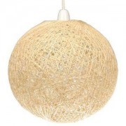 Lights by B&Q Abaca Beige Twine Ball Pendant Light Shade (D)28cm