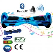 "6.5"" Blue Chrome Bluetooth Segway Hoverboard"