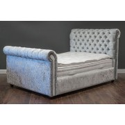 Chesterfield Crushed Velvet Double Bed - 4ft 6in