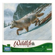 Mega Puzzles - Wildlife Gallery - Arctic Wolf - 1000 Pc
