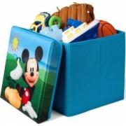 Taburet si cutie depozitare jucarii Disney Mickey Mouse