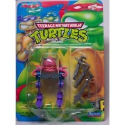 TEENAGE MUTANT NINJA TURTLES HEROES IN A HALF-SHELL KRANG WITH WACKY WEAPONS TURTLE GRASPING MECHANIZED ARMS..BRAIN-DRAIN GUN..MOBILE LIFE-SUPPORT SYSTEM