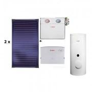Pachet panouri solare Bosch 2 FKT-1S + WST 290-5SCE + ISM 1 - acoperis plan