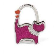 2014 Hot Unisex Table Cat Foldable Purse Bag Rhinestone Hanger Hangbag Hook Holder Safer Gift - Fuchsia