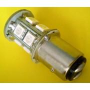 Bec auto 1157 / B15S LED rosu (stop pozitie+frana)