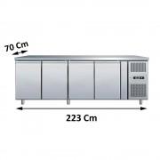 Tavolo Refrigerato 4 Porte profondità 70, GN 1/1 Temperatura -2° +8°C
