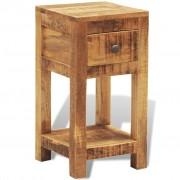 vidaXL Nočný stolík z masívu s 1 zásuvkou