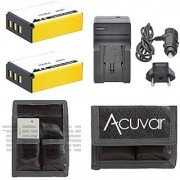 2 NP-85 Replacement Batteries + Car / Home Charger + Acuvar Battery Pouch for Fujifilm FinePix S1 SL1000 SL305 SL300 SL280 SL260 SL240 SL-305 SL-300 SL-280 SL-260 SL-240 and Other Models