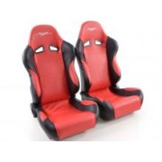 SPORT SEAT SET SCE-SPORTIVE (1xleft/1xright) BLUE/BLACK or RED/BLACK