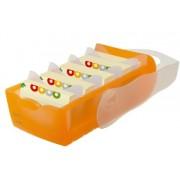 HAN 997-613 Boîte à fiches en plastique CROCO pour env. 900 fiches A7 121 x 85 x 246 mm (Orange transparent)
