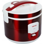 United X704-18 Electric Rice Cooker with Steaming Feature(1.8 L, Red)