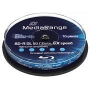 MEDIARANGE BD-R BLU-RAY 50GB 6x DoubleLayer PRINTABLE spindl 10pckbal