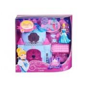 Mattel Disney Princess - Mini Poupée Cendrillon Magiclip Et Château