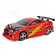 Uno y dieciseis 2.4GHz 3 canales R / C Deriva Electrico Power Sports Car Model - Rojo + Negro